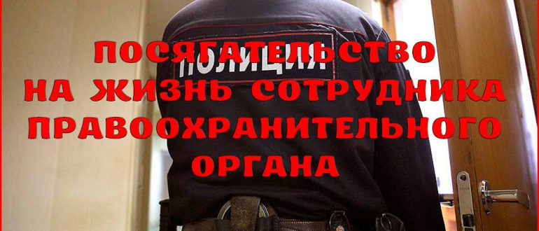 Ответственность за посягательство на жизнь сотрудника правоохранительного органа